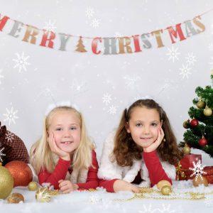 božično foto enchpro deklici